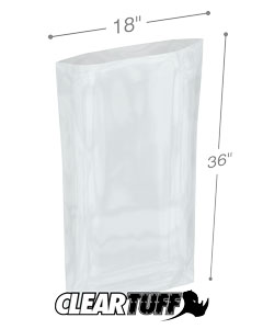 18 in x 36 in 2 Mil Poly Bags