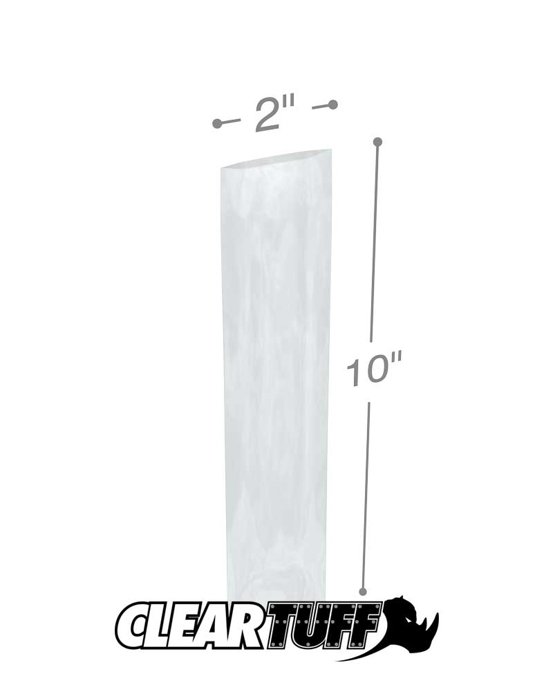 industrial supplies 2 Mil Flat high clarity Clear Poly film Bags CASE OF 1000