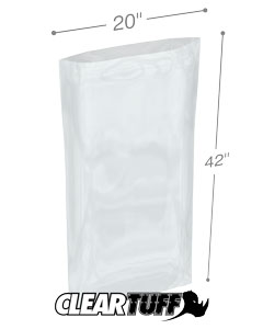 20 x 42 2 mil Poly Bags