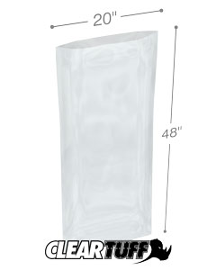 20 x 48 2 mil Poly Bags