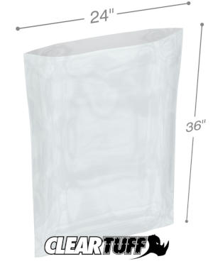 24 in x 36 in 1.25 Mil Poly Bags