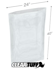 24 x 40 2 mil Poly Bags