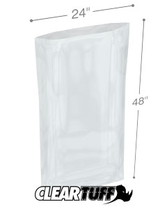 24 x 48 3 mil Poly Bags