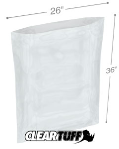 26 x 36 2 mil Poly Bags