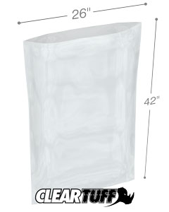 26 x 42 2 mil Poly Bags