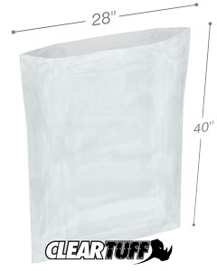 28 x 40 2 mil Poly Bags