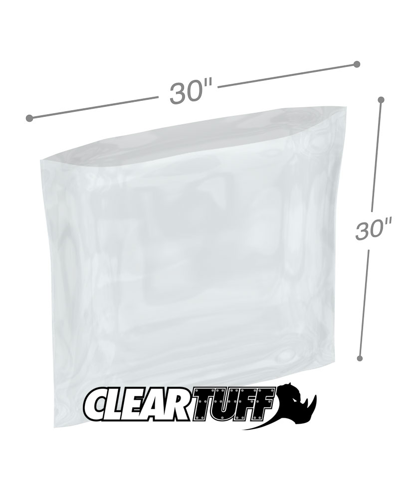 30x30 1MIL Poly Bags Clear Flat Open Top Plastic Packaging Packing LDPE