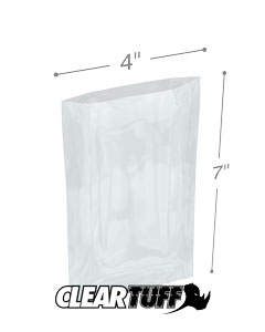 4 x 7 4 mil Poly Bags