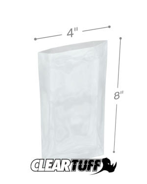 4 x 8 1.25 mil Poly Bags