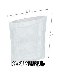 5 x 7 2 mil Poly Bags