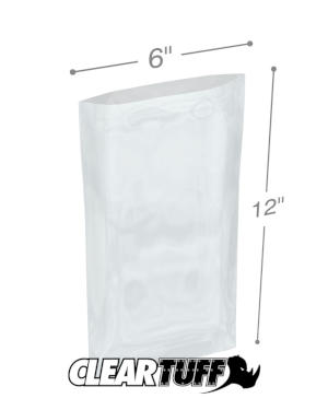 6 x 12 1 mil Poly Bags