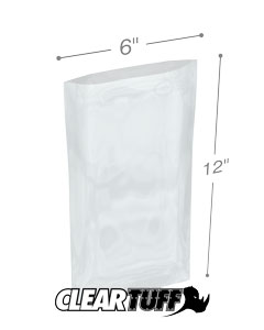 6 x 12 2 mil Poly Bags