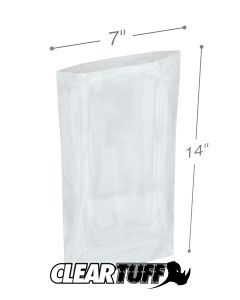 7 x 14 3 mil Poly Bags