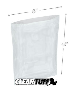 8 x 12 1.25 mil Poly Bags
