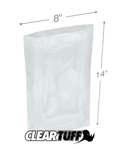 8 x 14 2 mil Poly Bags