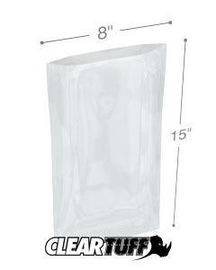 8 x 15 2 mil Poly Bags