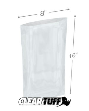 8 x 16 1 mil Poly Bags