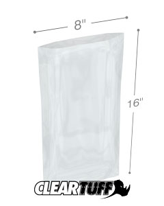 8 x 16 2 mil Poly Bags