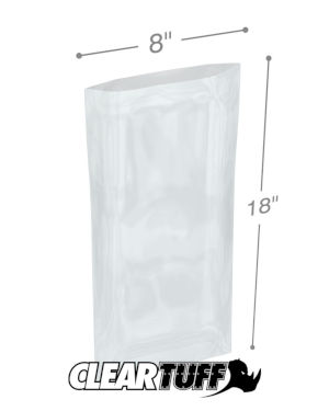 8 x 18 1 mil Poly Bags