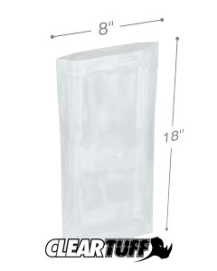 8 x 18 2 mil Poly Bags