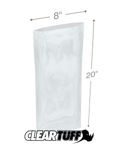 8 x 20 2 mil Poly Bags