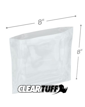 8 x 8 1 mil Poly Bags