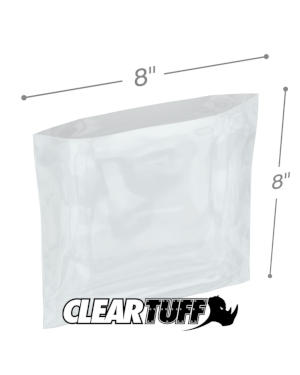 8 x 8 1.25 mil Poly Bags
