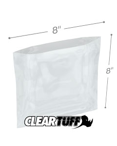 8 x 8 3 mil Poly Bags