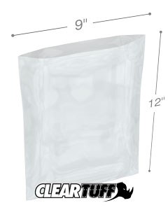 9 x 12 3 mil Poly Bags