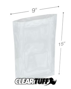 9 x 15 2 mil Poly Bags