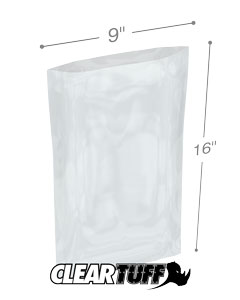 9 x 16 2 mil Poly Bags