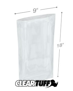9 x 18 2 mil Poly Bags