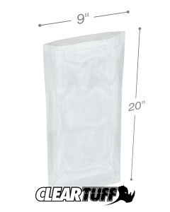 9 x 20 2 mil Poly Bags