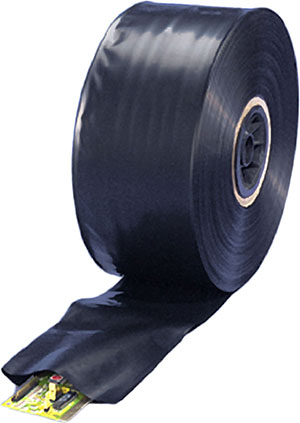 14x750 4mil Black Conductive Tubing on Roll