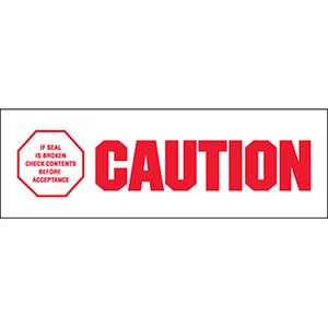Caution - If Seal Is Broken Carton Sealing Tape