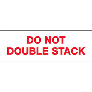 Do Not Double Stack Carton Sealing Tape