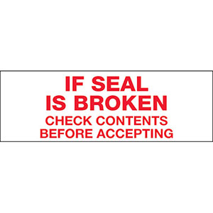 If Seal Is Broken Carton Sealing Tape