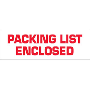 Packing List Enclosed Carton Sealing Tape