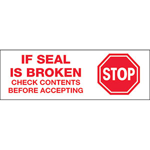 Stop If Seal Is Broken Carton Sealing Tape
