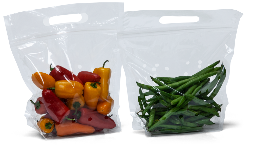 9 1/2 x 10 + 4 Vented Produce Bags 2.5 Mil