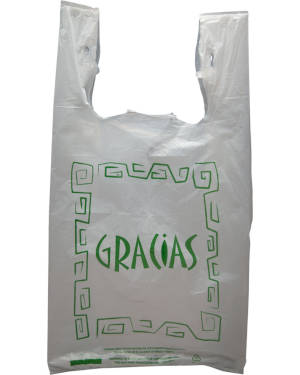 11.5 x 6.5 x 21 Gracias Carry Out Bags