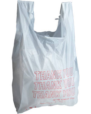 Printed 15 inch x 7 inch x 26 inch Thank You High Density T-Shirt  Bags
