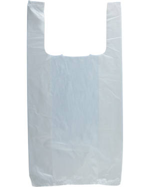 6x15 White T-Shirt Bag