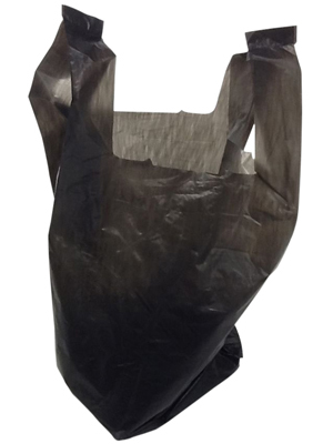 6 x 3 x 12 black t-shirt bag