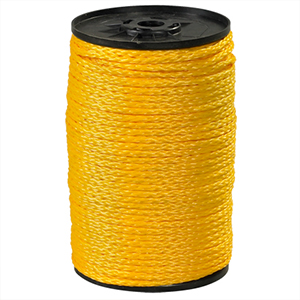 3/16 x 1000 hollow braided poly rope