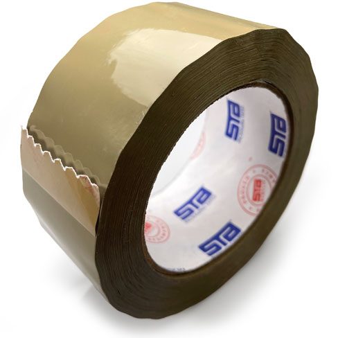 2 Inch Tan Carton Sealing Clear Tape