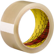 3M 311 Scotch Clear Box Sealing Tape, 3 inches x 110 Yards