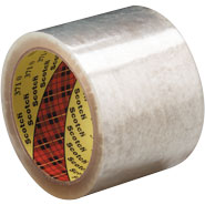 3M 371 3 inch x 110 Yards Clear Scotch Box Sealing Tape
