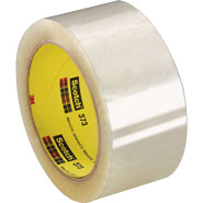 3M 373 Scotch Clear Box Sealing Tape, 2 inch x 55 yards