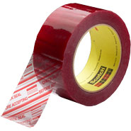 3M 3 Inch 3779 Scotch Security Message Clear Box Sealing Tape
